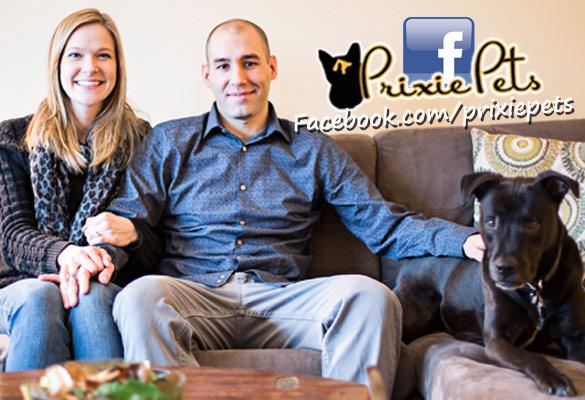 Happy Dog Loving Couple